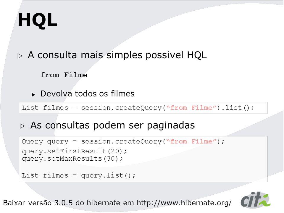 HQL A consulta mais simples possivel HQL