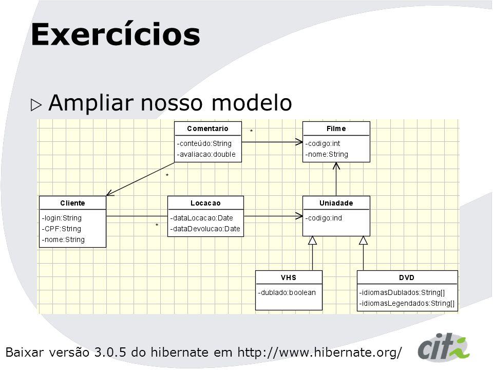 Exercícios Ampliar nosso modelo