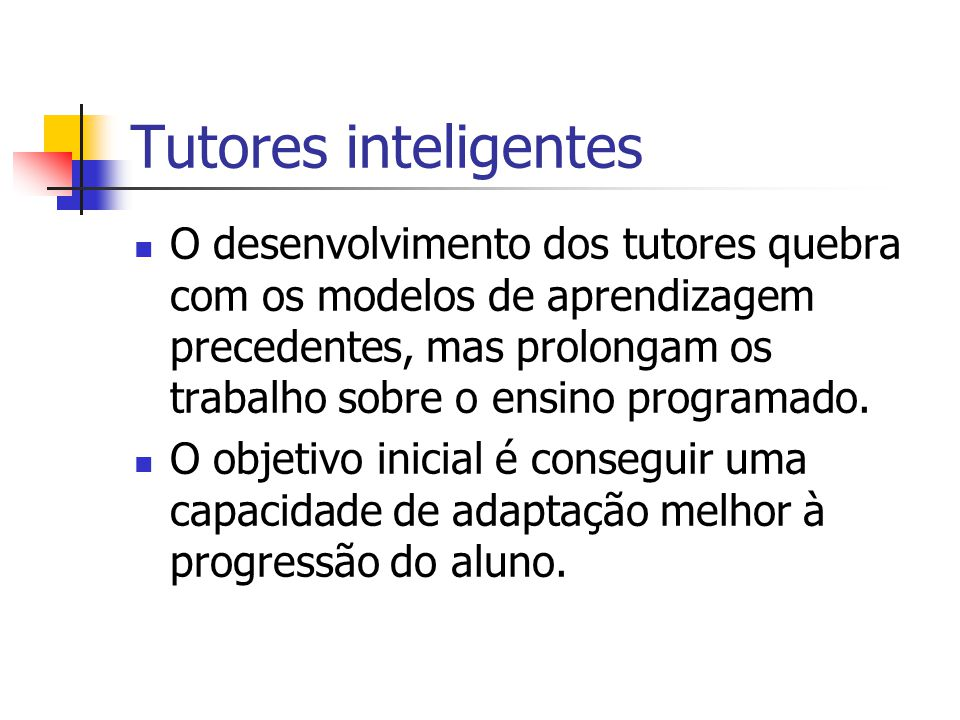 Tutores inteligentes