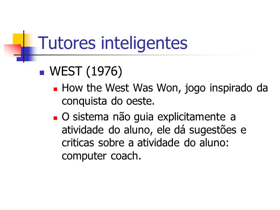 Tutores inteligentes WEST (1976)