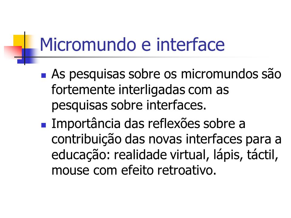 Micromundo e interface