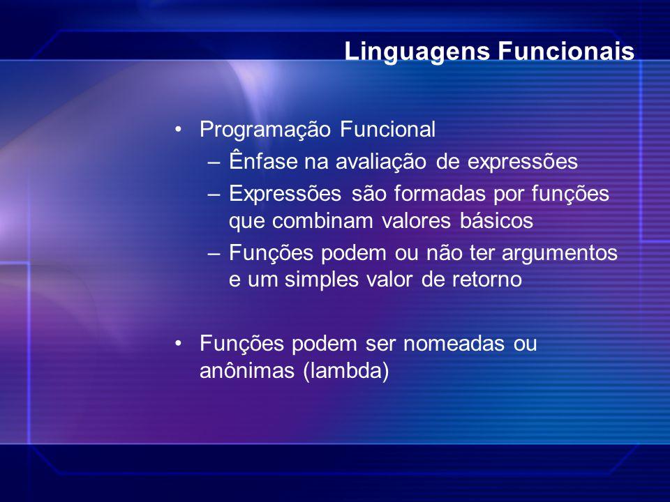 Linguagens Funcionais