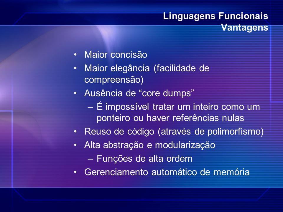 Linguagens Funcionais Vantagens
