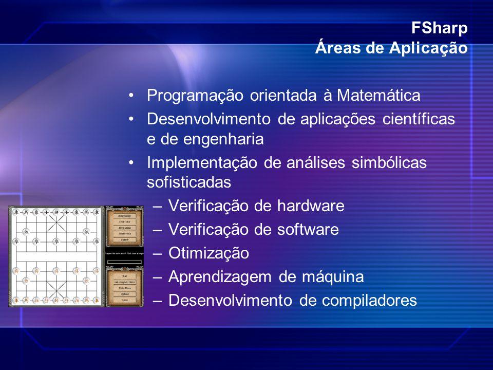 FSharp Áreas de Aplicação