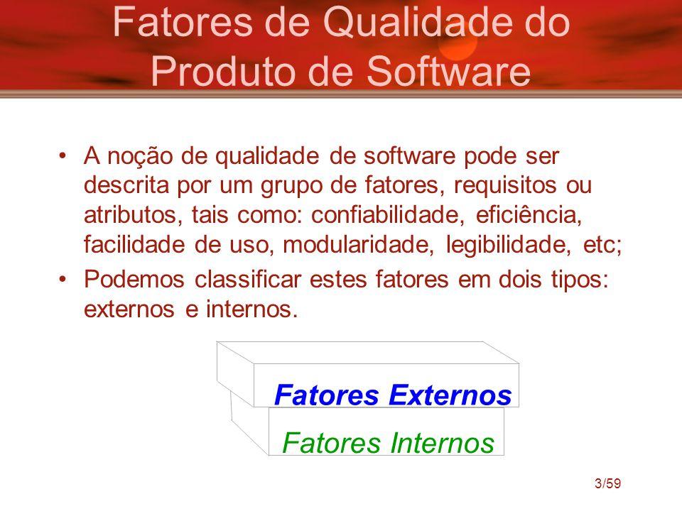 Fatores de Qualidade do Produto de Software