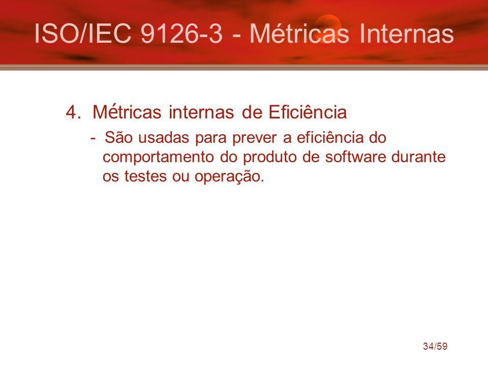ISO/IEC 9126-3 - Métricas Internas