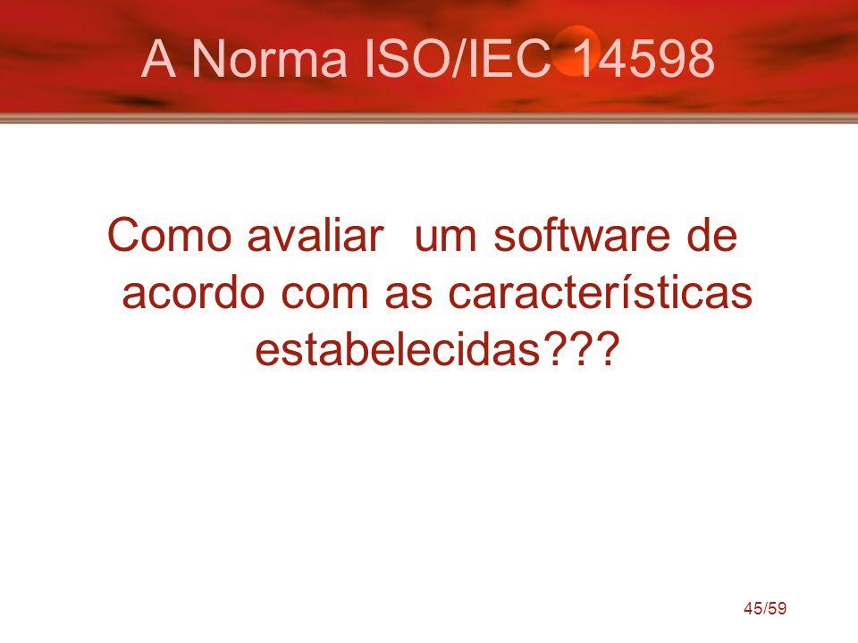 A Norma ISO/IEC 14598 Como avaliar um software de acordo com as características estabelecidas