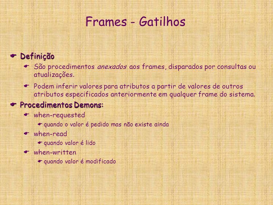 Frames - Gatilhos Definição Procedimentos Demons: