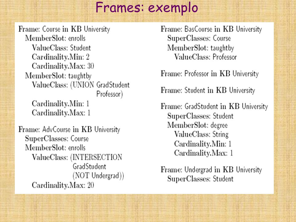 Frames: exemplo