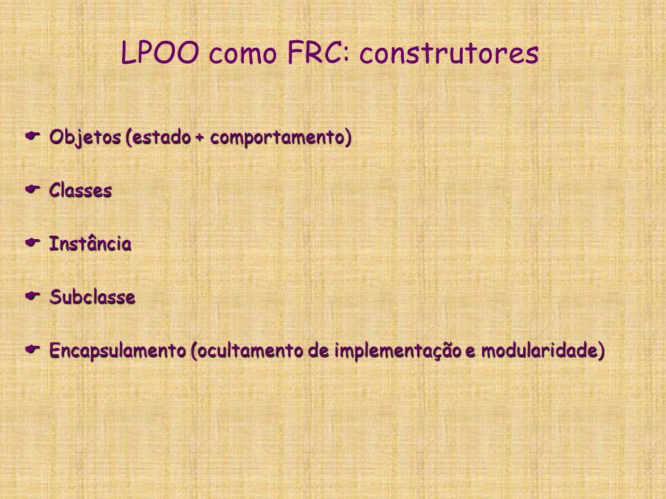 LPOO como FRC: construtores