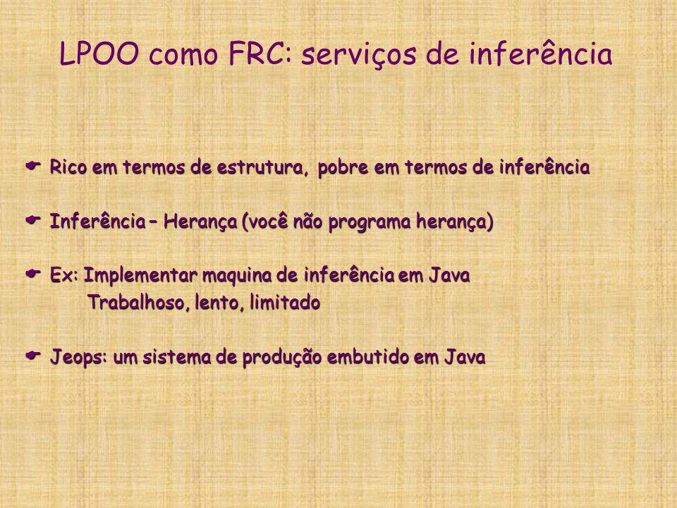LPOO como FRC: serviços de inferência
