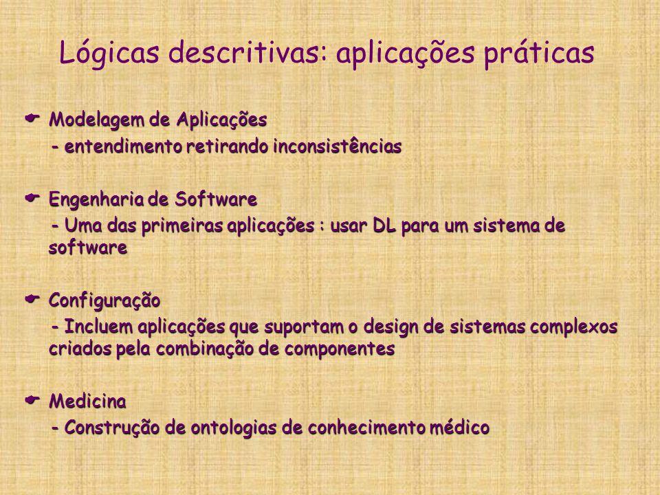 Lógicas descritivas: aplicações práticas