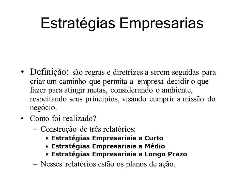 Estratégias Empresarias