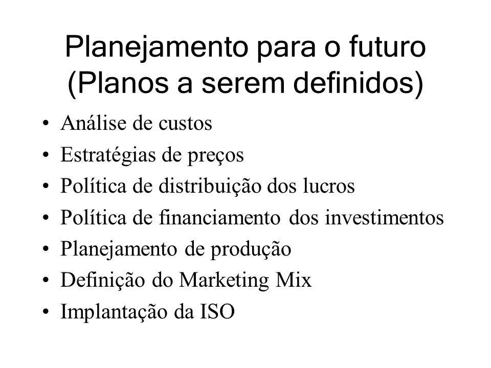 Planejamento para o futuro (Planos a serem definidos)