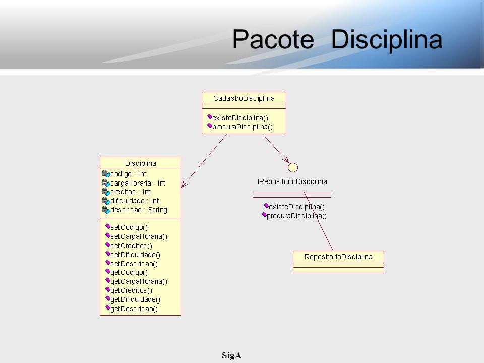 Pacote Disciplina SigA