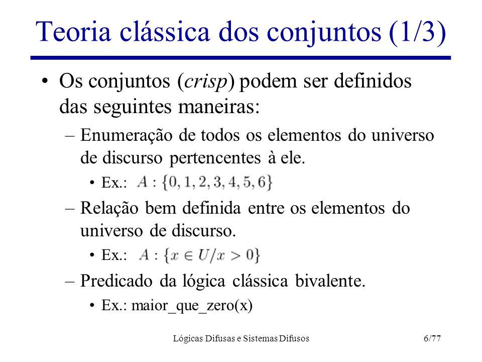 Teoria clássica dos conjuntos (1/3)