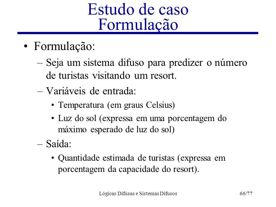 Estudo de caso Formulação
