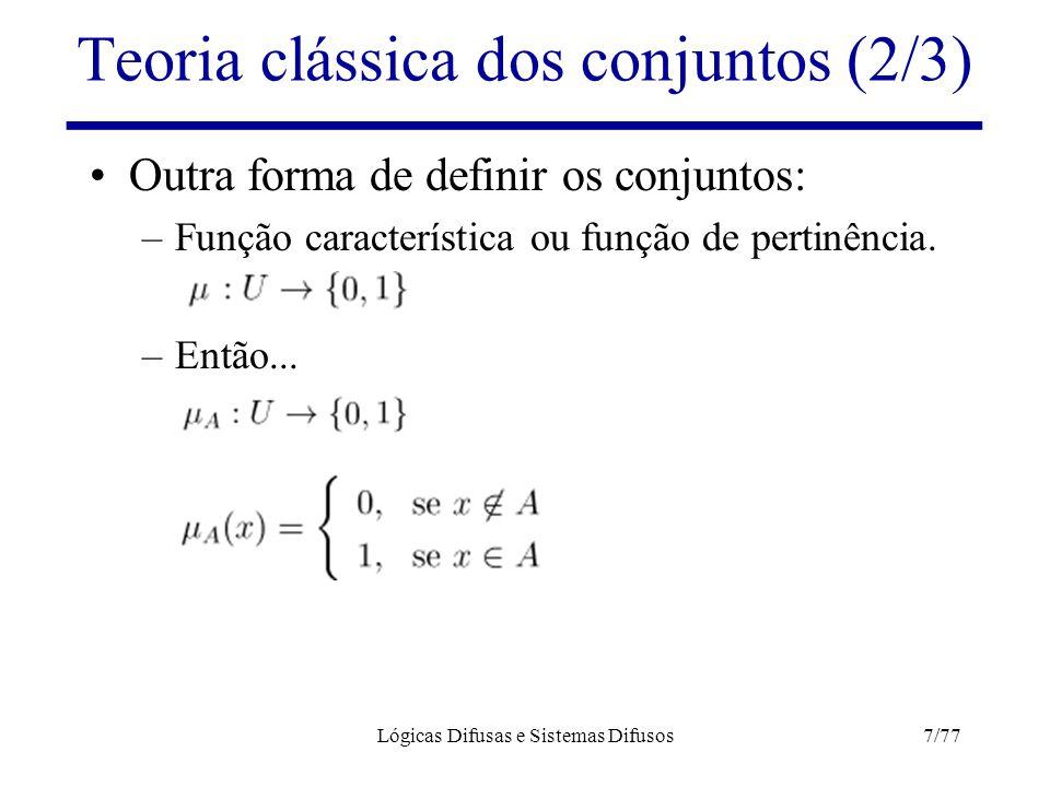 Teoria clássica dos conjuntos (2/3)