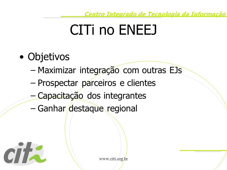 CITi no ENEEJ Objetivos Maximizar integração com outras EJs