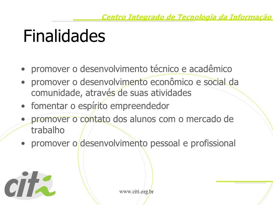 Finalidades promover o desenvolvimento técnico e acadêmico
