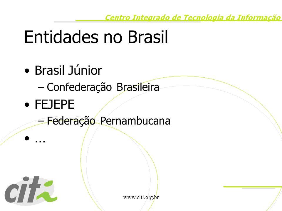 Entidades no Brasil Brasil Júnior FEJEPE ... Confederação Brasileira