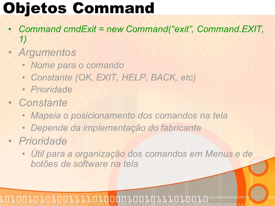 Objetos Command Argumentos Constante