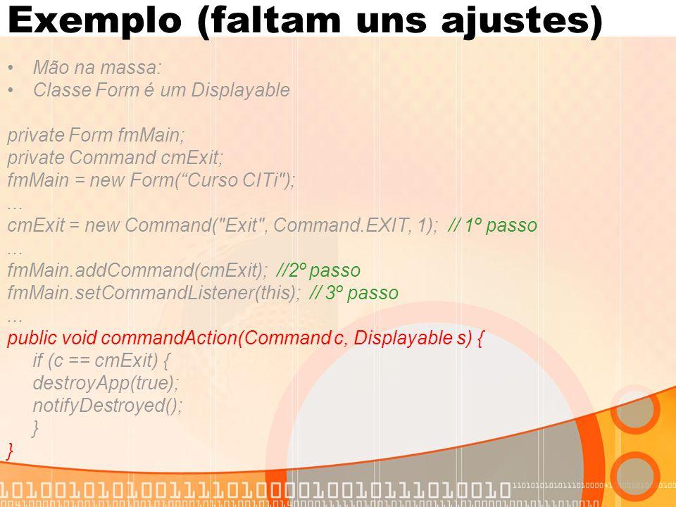 Exemplo (faltam uns ajustes)