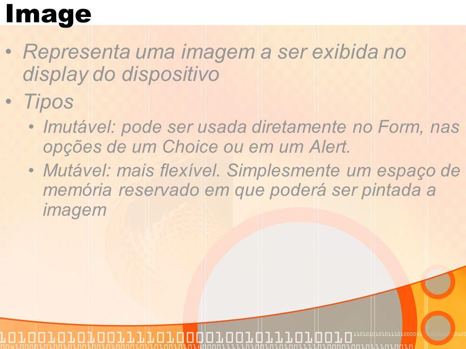 Image Representa uma imagem a ser exibida no display do dispositivo