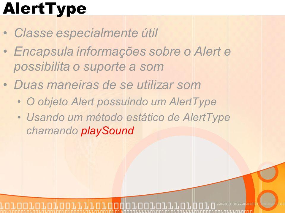AlertType Classe especialmente útil