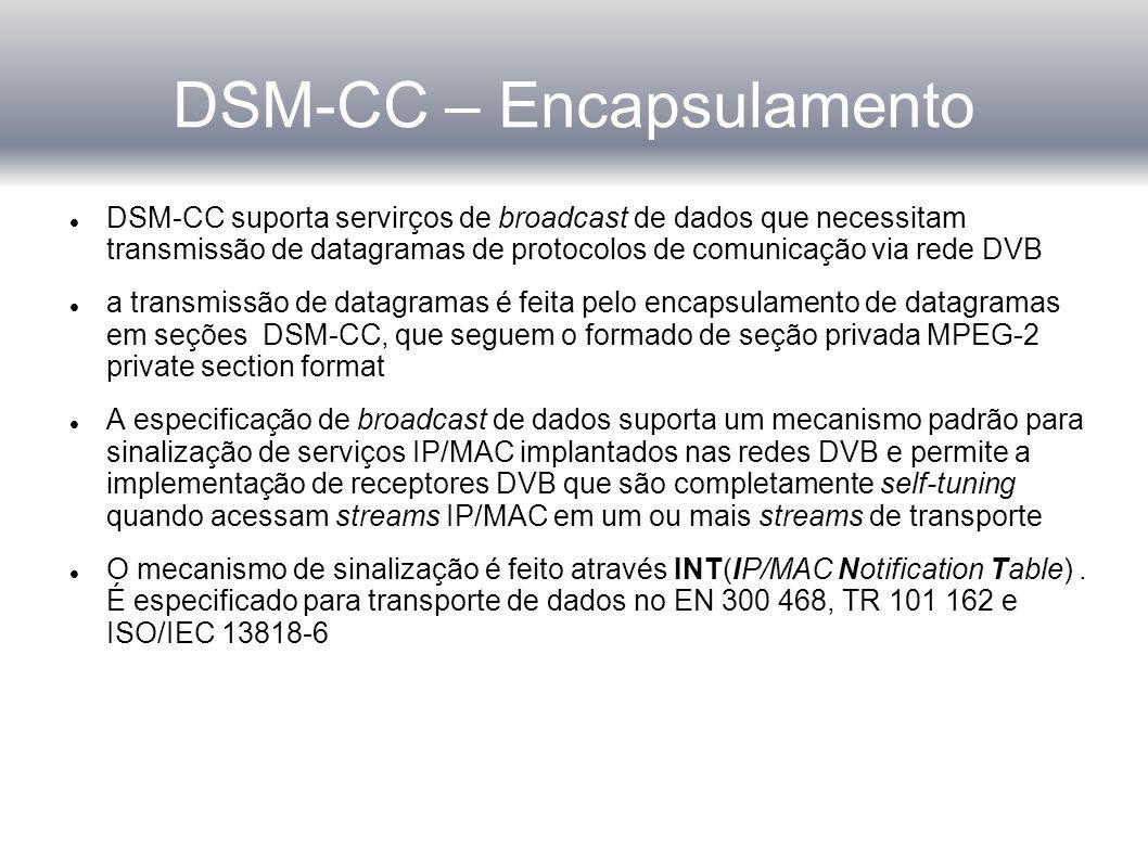 DSM-CC – Encapsulamento