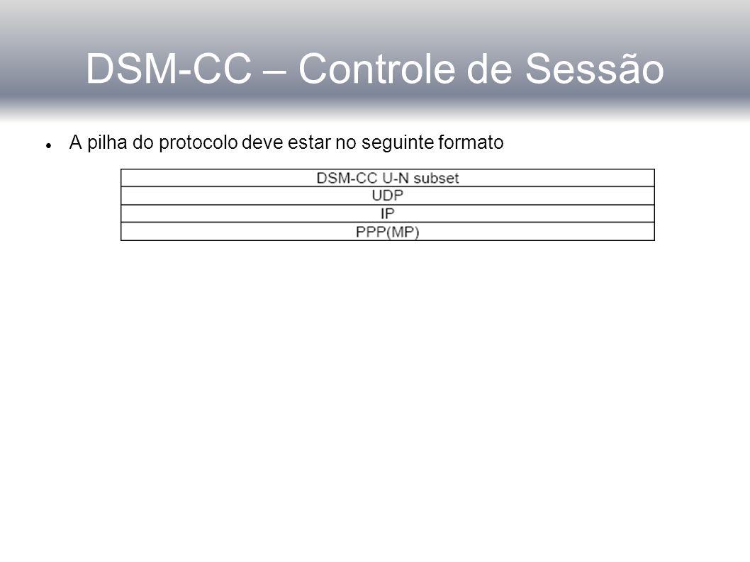DSM-CC – Controle de Sessão
