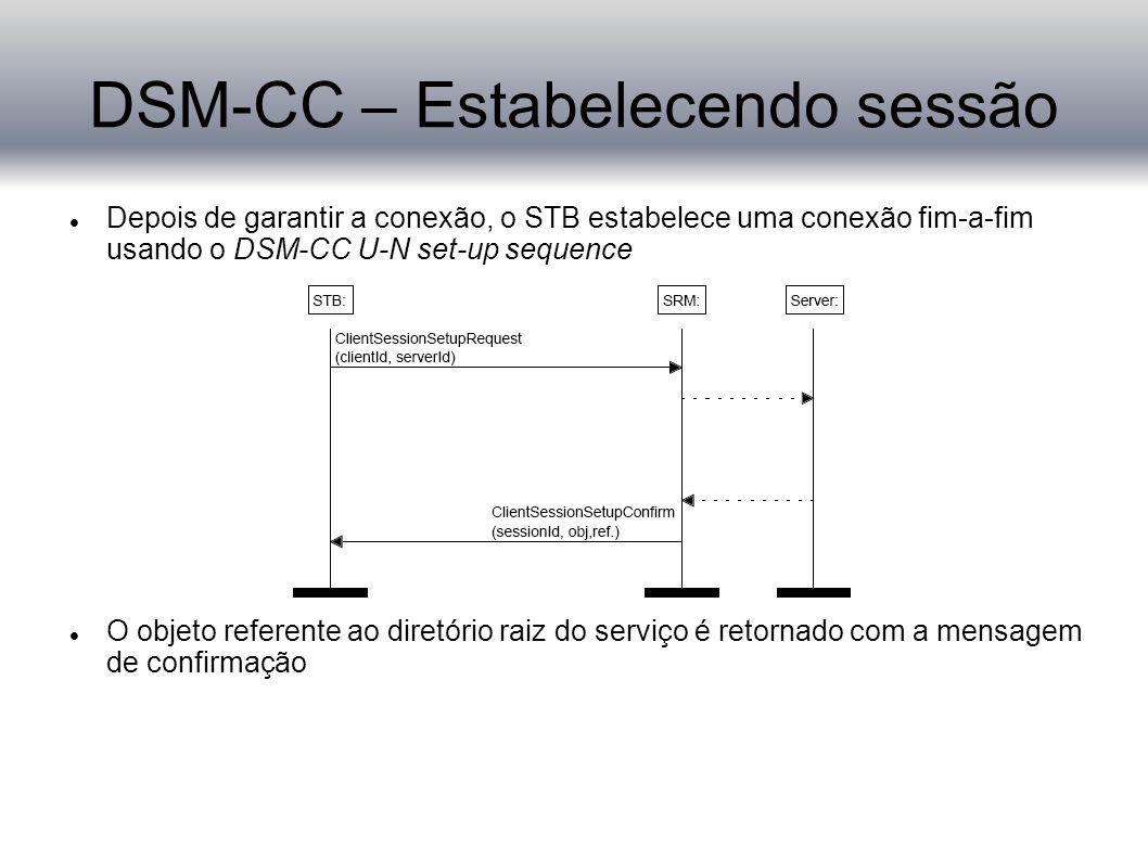 DSM-CC – Estabelecendo sessão