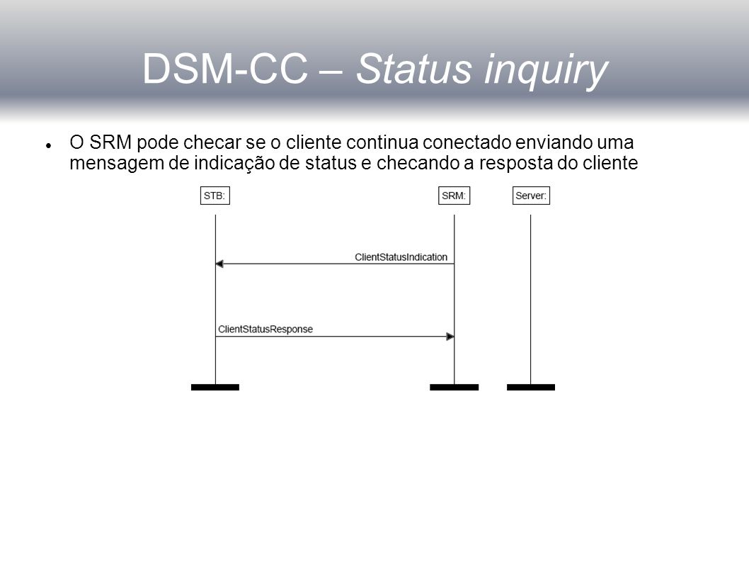 DSM-CC – Status inquiry
