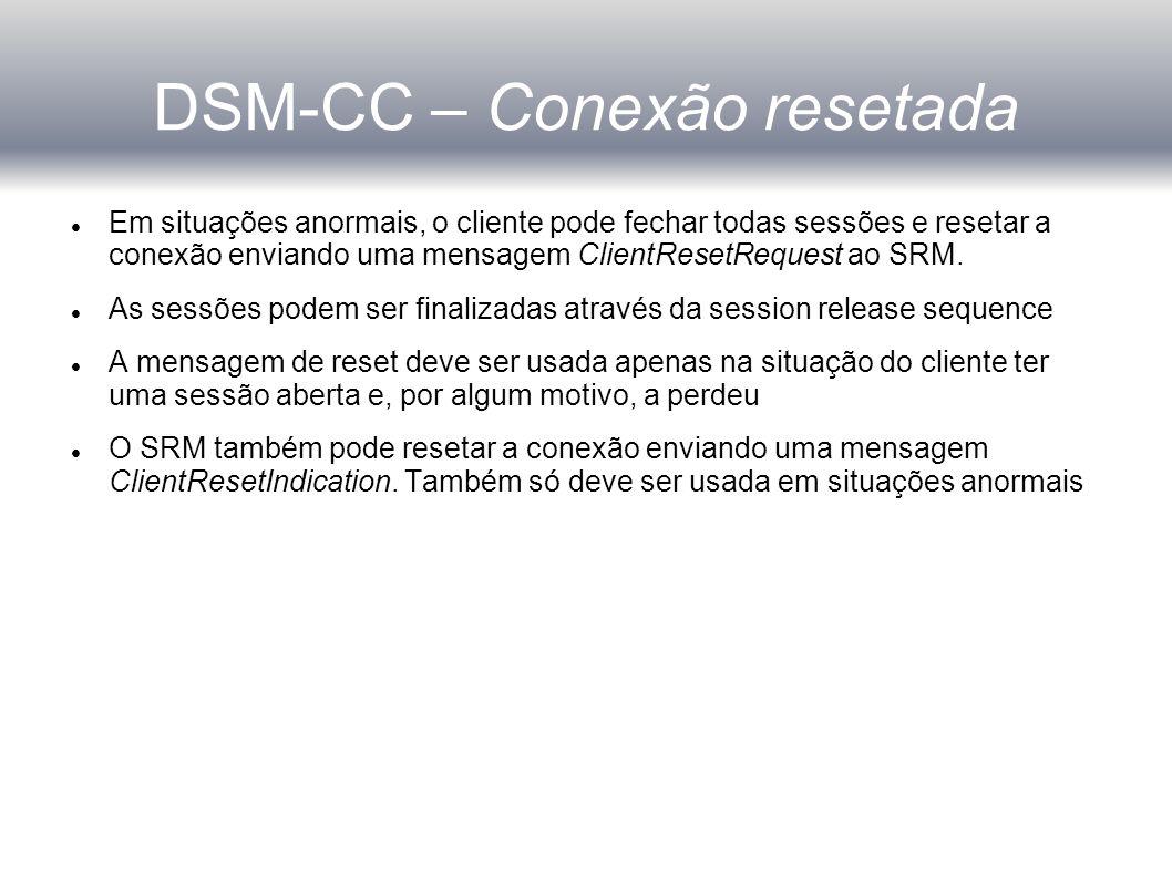 DSM-CC – Conexão resetada