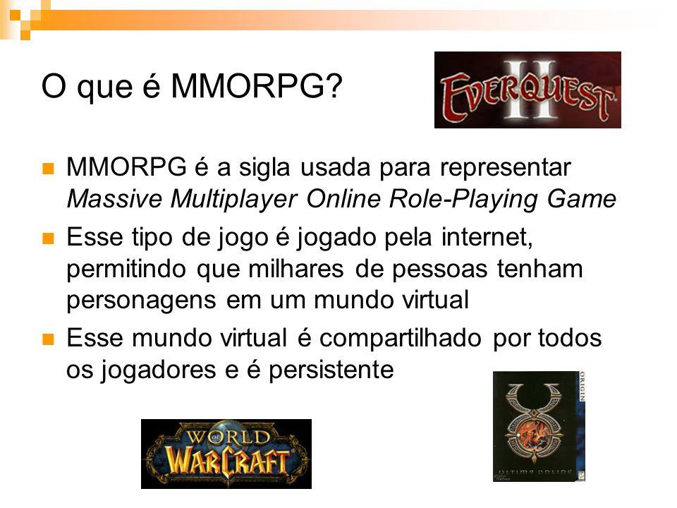 O que é MMORPG MMORPG é a sigla usada para representar Massive Multiplayer Online Role-Playing Game.