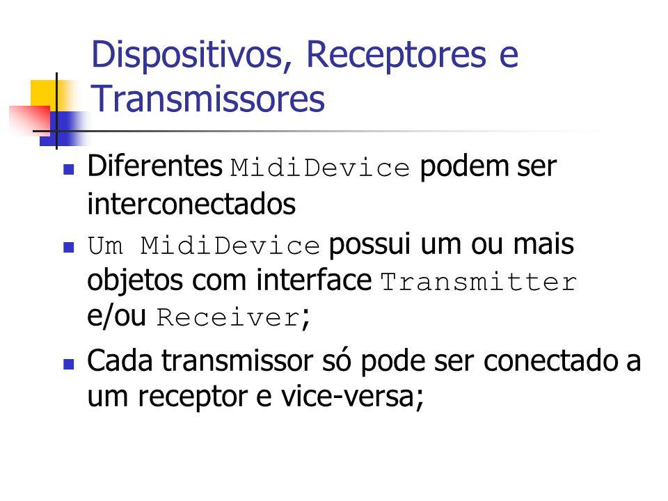 Dispositivos, Receptores e Transmissores