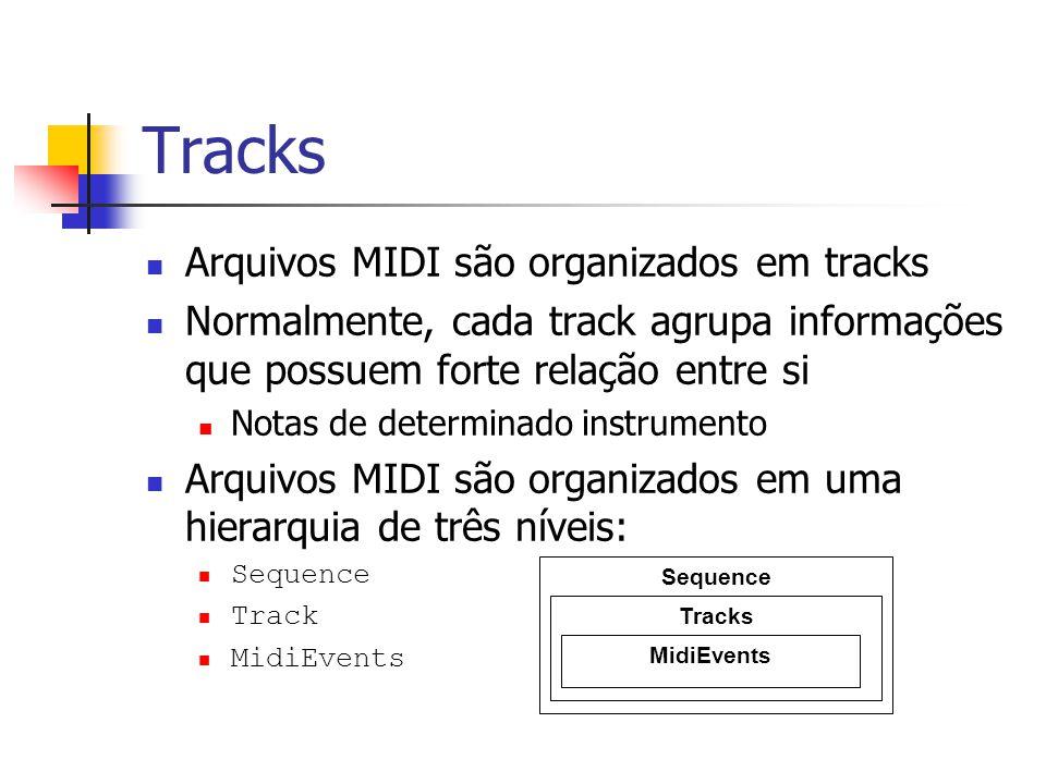 Tracks Arquivos MIDI são organizados em tracks