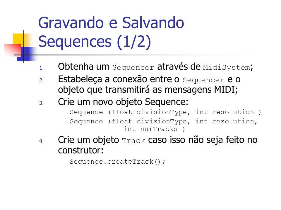 Gravando e Salvando Sequences (1/2)