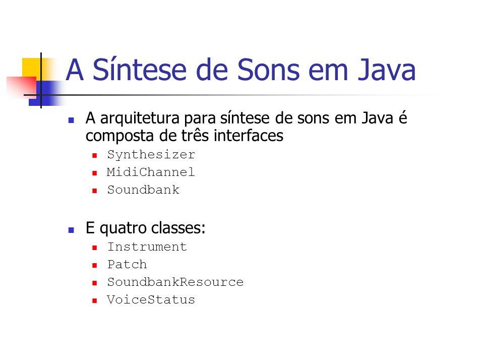 A Síntese de Sons em Java