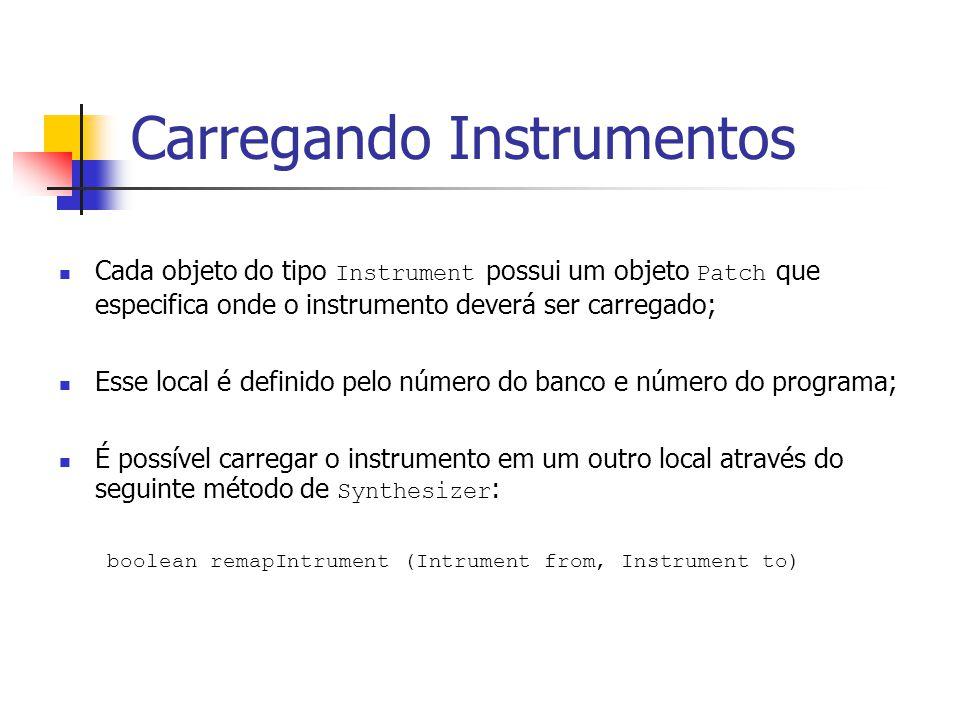 Carregando Instrumentos