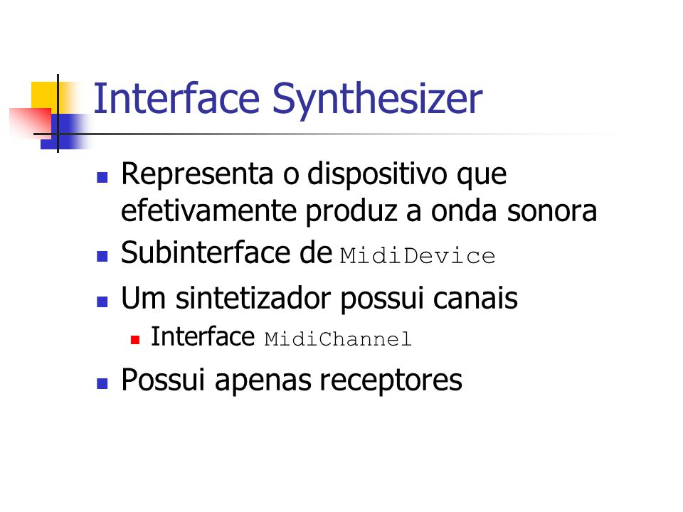 Interface Synthesizer