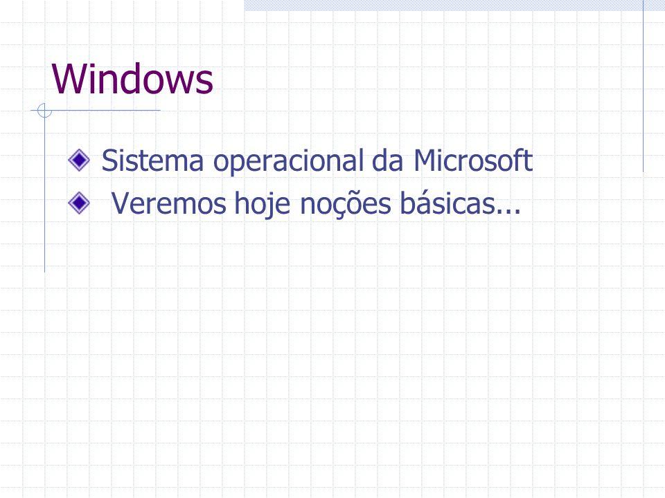 Windows Sistema operacional da Microsoft