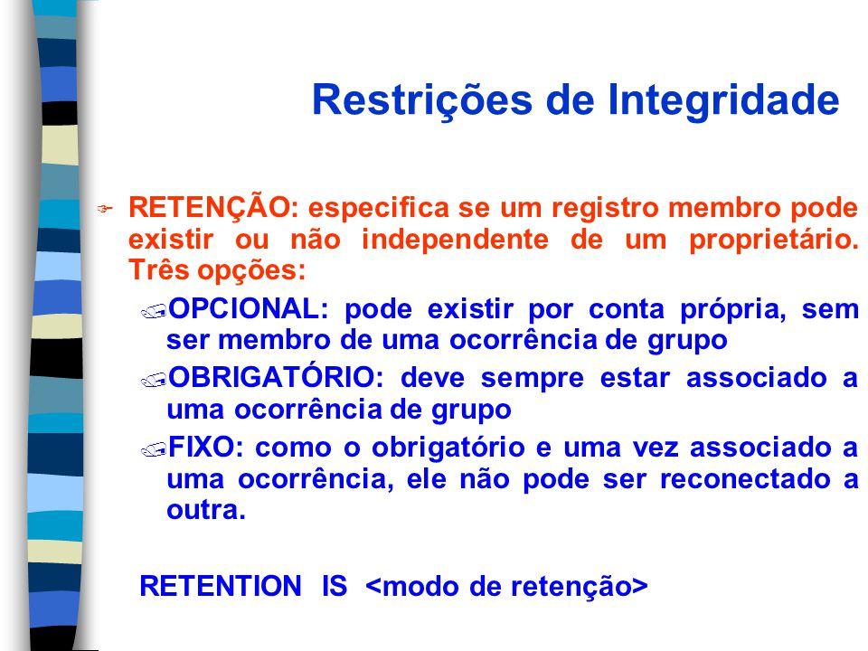 Restrições de Integridade