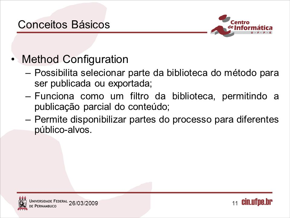 Conceitos Básicos Method Configuration