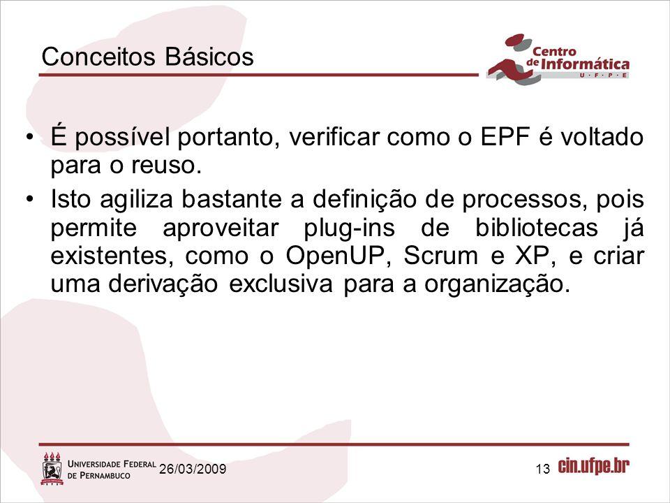 É possível portanto, verificar como o EPF é voltado para o reuso.