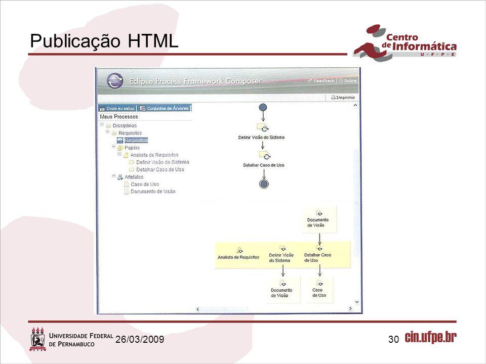 Publicação HTML 26/03/2009 30 30
