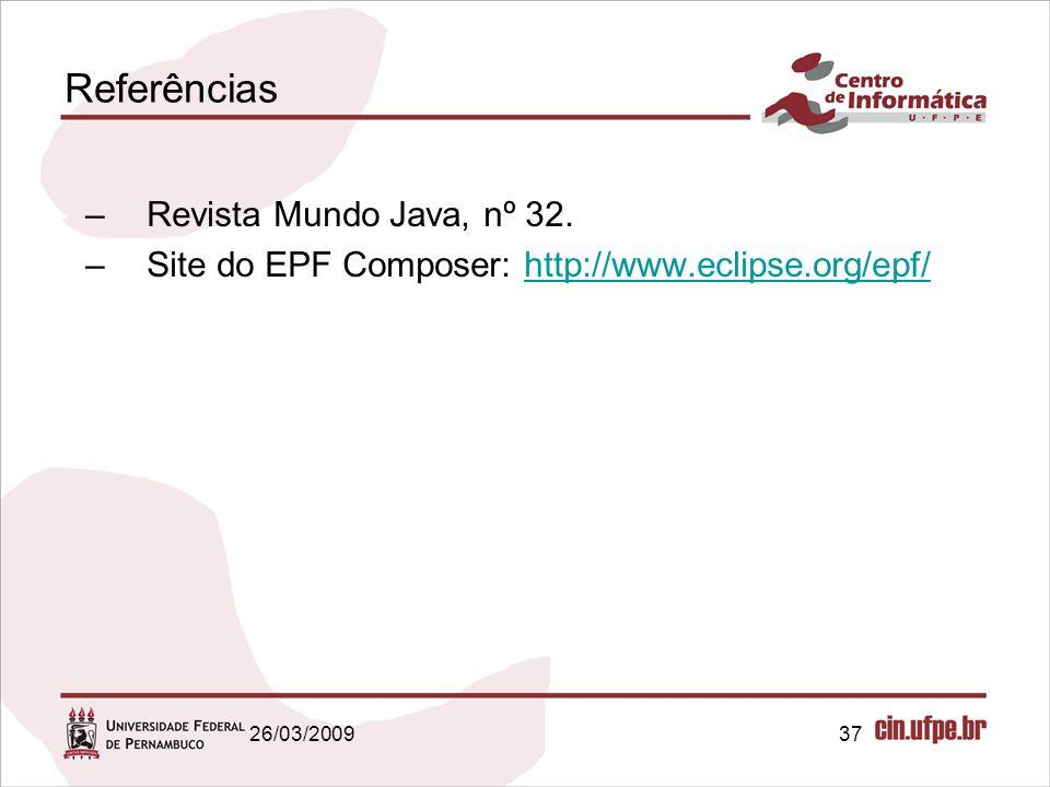 Referências Revista Mundo Java, nº 32.