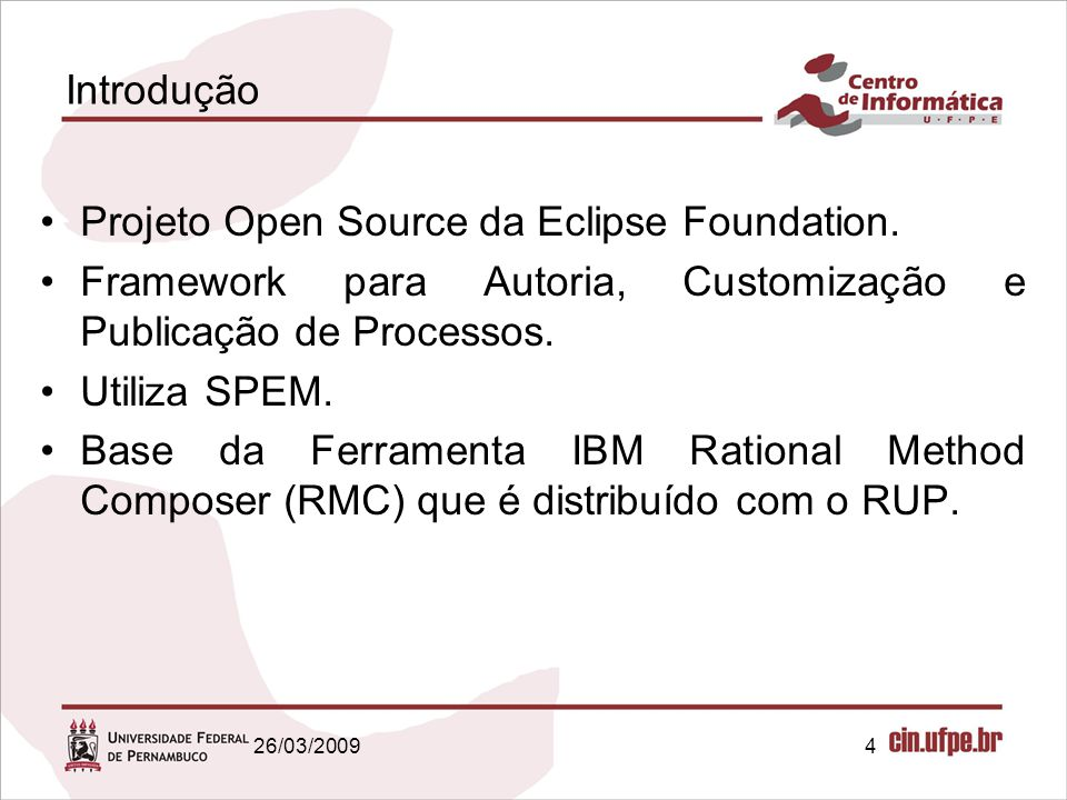 Projeto Open Source da Eclipse Foundation.