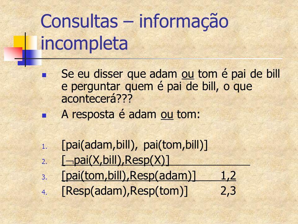 Consultas – informação incompleta