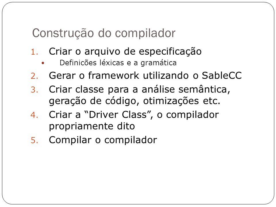 Construção do compilador